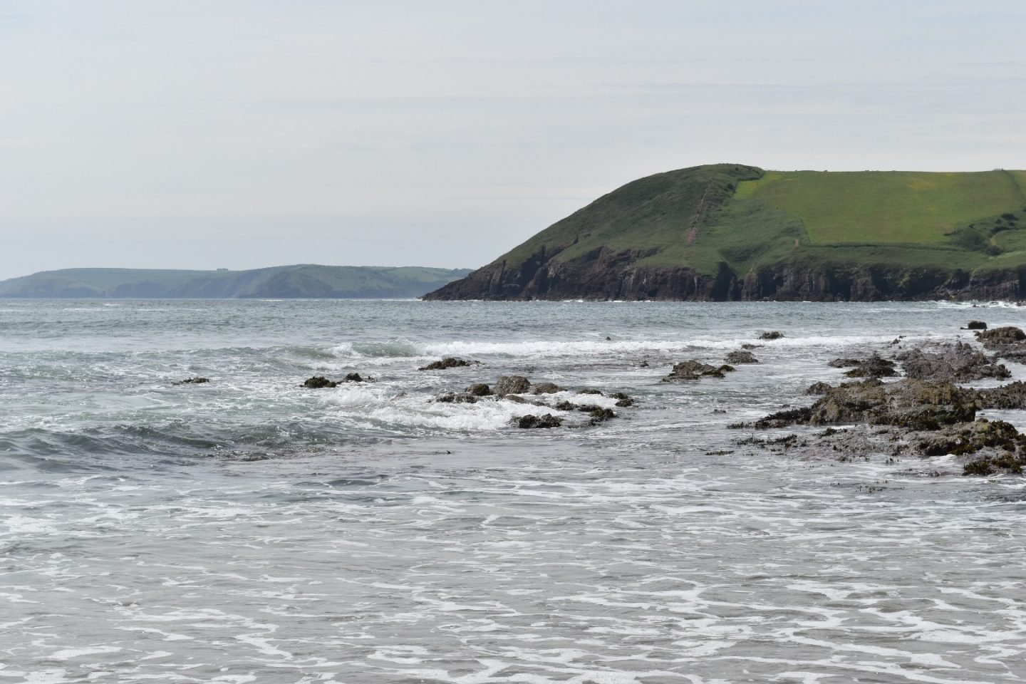 Manorbier Beach places to visit in Pembrokeshire