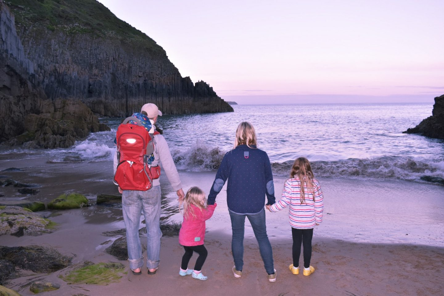 church doors cove with kids