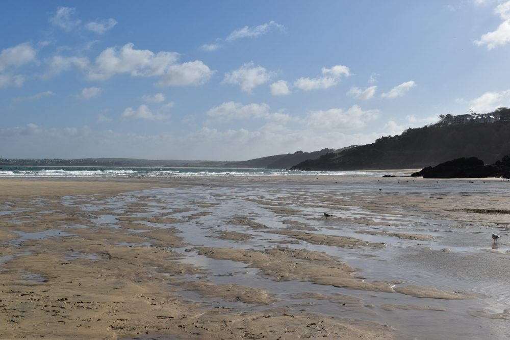 Beach in Cornwall. Hotel with a sea view in St Ives