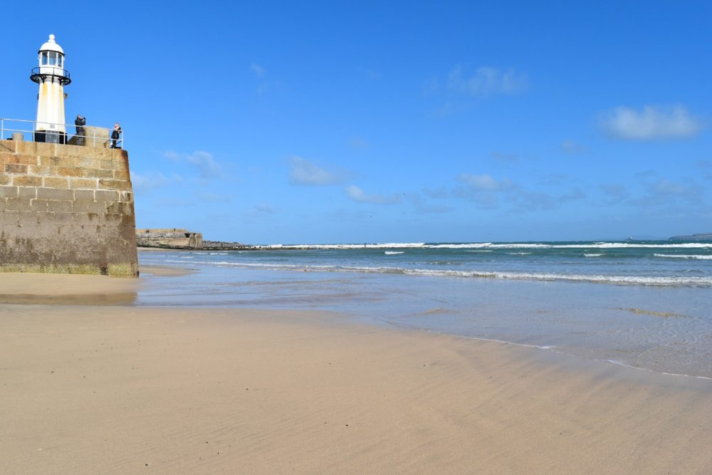 Harbour beach in St Ives Cornwall