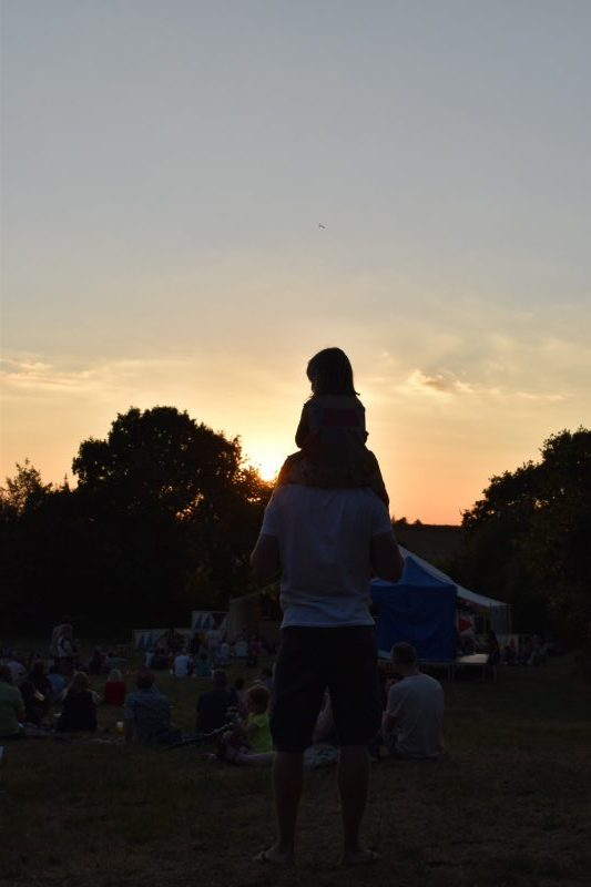 Sunsets and at the Timber Festival - a family friendly festival