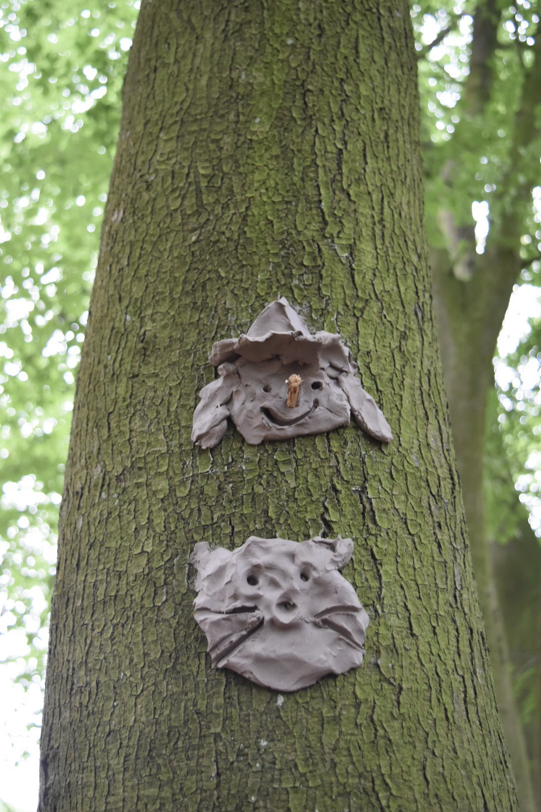 Clay faces at Just So Festival