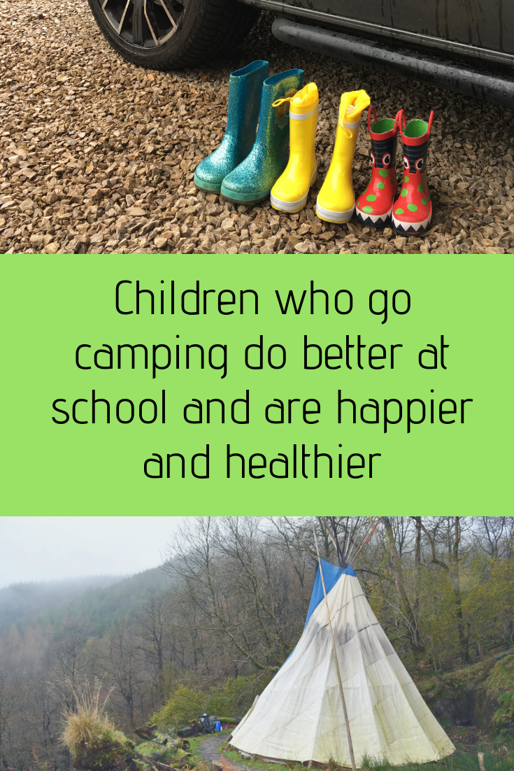 Children who go camping do better at school and are happier and healthier