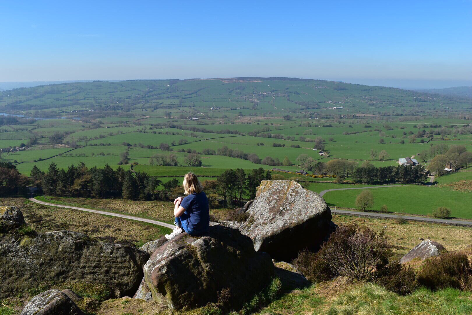 The Roaches offers a great day out in Staffordshire with walks and cycling with panoramic views