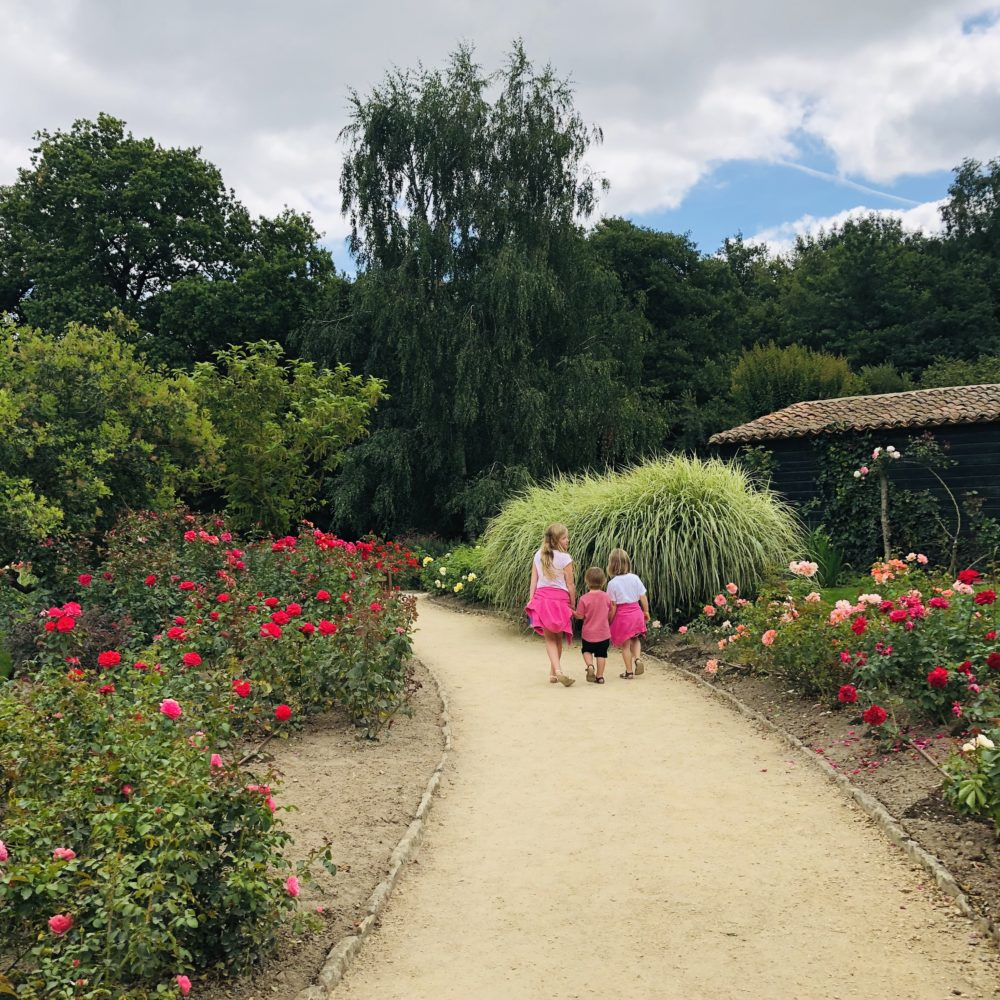 Puy du Fou with kids wandering the gardens
