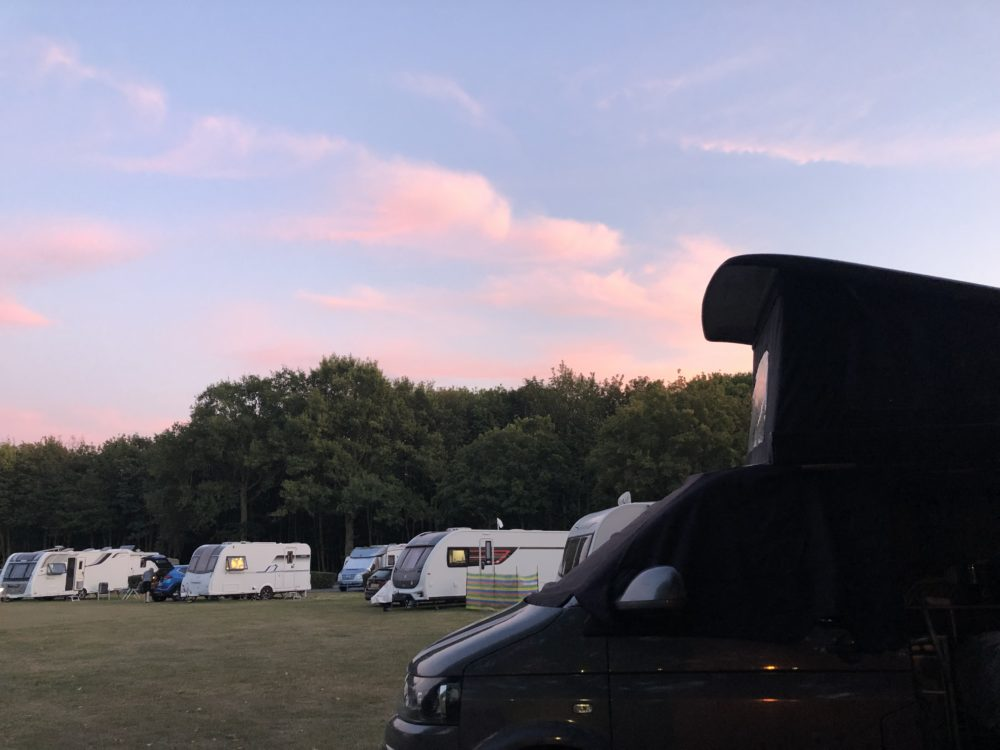 A camper van holiday at Commons wood Club Site