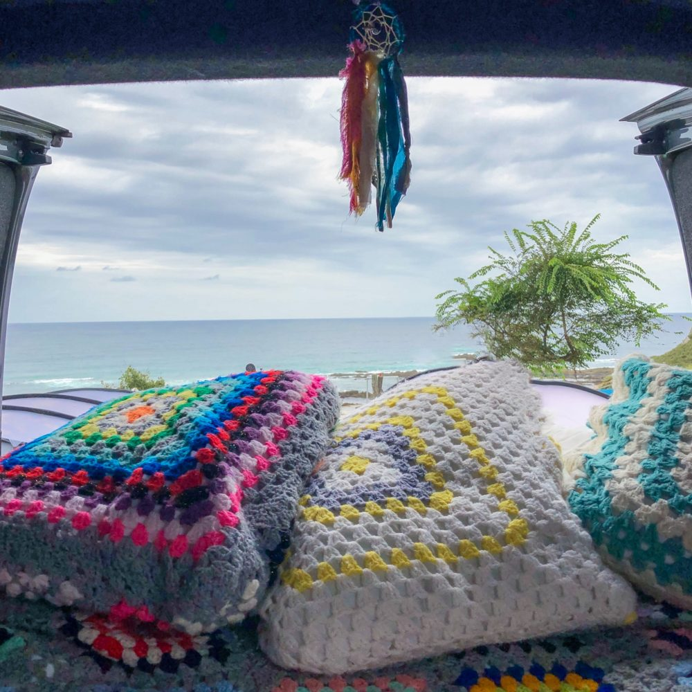 camper van pitch at Camping La Paz, Spain with sea view