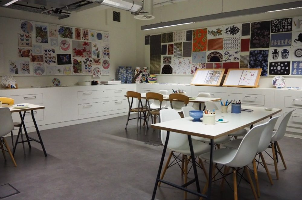 Pottery Painting at the World of Wedgwood design studio in Stoke on Trent