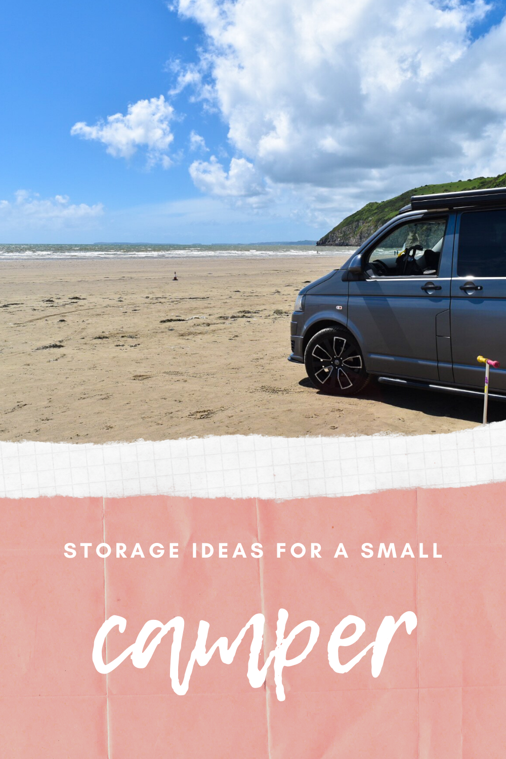 camper storage ideas for a small campervan motorhome or RV. Wardrobe storage hacks, and small storage solutions