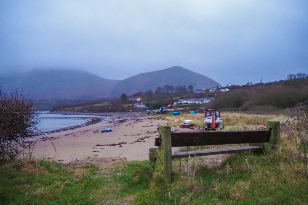 Trefor beach, a ten minute walk from Pen Hendre holiday cottage in North Wales