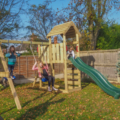 AD Wickey Multiflyer Climbing Frame with wooden roof: REVIEW